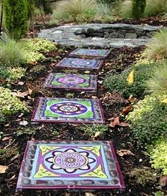 2 unique mosaic coasters CoastersTrivetsSteppers Pinterest
