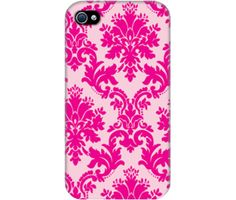 "Wrappz (iPhone 4 & 4S Case) - ""Girly Pink Background"" available on: http://simplecastle.com/product-details.asp?id=998"