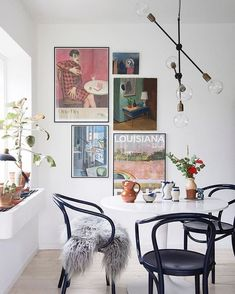 Photographer Gyrithe Lemche (gyrithelemche) photos and videos Inspiration Wall, Interior Inspiration, Living Room Decor, Living Spaces, Picture Wall Living Room, Dining Room Art, Eclectic Decor, House Design, Home Decor