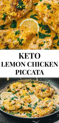 lemon chicken piccata is served with capers in a creamy butter sauce. It's a healthy, low carb skillet dinner. lemon chicken piccata is served with capers in a creamy butter sauce. It's a healthy, low carb skillet dinner. Ketogenic Recipes, Diet Recipes, Healthy Recipes, Zoodle Recipes, Pescatarian Recipes, Dessert Recipes, Smoothie Recipes, Crockpot Recipes, Skillet Recipes