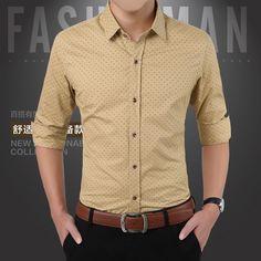 2015 New Arrival Autumn Brand Dress Men Shirt Long Sleeve Male ...