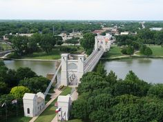 Waco, Texas First Suspension Bridge built west of the Mississippi.