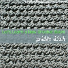 Pebble Stitch Crochet Tutorial - (ooombawkadesigncrochet)