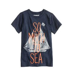 Boys glow-in-the-dark so much to sea tee via Crew Cuts