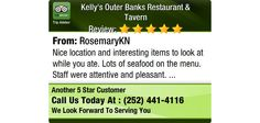 Nice location and interesting items to look at while you ate. Lots of seafood on the...