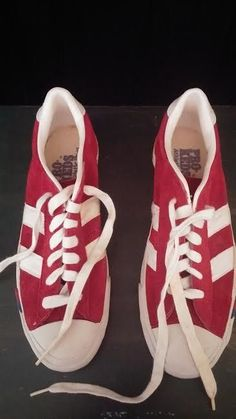 Pro Keds 70s vtg mens athletic shoes low top red suede canvas Royal stripes 9.5 #ProKeds #AthleticSneakers