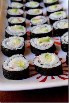 How to Make Sushi  Ridiculously good-- I used medium grain rice and found gluten-free kroger imitation  crab meat.  Rice: 2 tbs Rice vinegar, 1 tbs sugar, 1 tsp salt...microwave