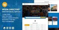 cool Wisem – Responsive Directory template for Drupal (Drupal)
