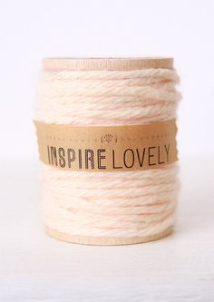 Use this Blush Cotton Twine to wrap favors with | inspire lovely