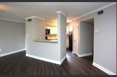 Image result for grey walls and dark wood floors