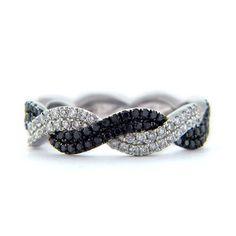 BLACK DIAMOND ENGAGEMENT RINGS | Black Diamond, Twist, Rope, Braided Lady's Diamond Ring Black Diamond ...