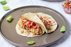 Beer-Battered Fish Tacos with Sriracha Mayo is a delicious, easy and insanely tasty meal for your typical fish meal this Easter season! The pico de gallo is the best part.