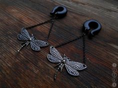 Dragonfly dangling gauges,vintage gauges,hook plug,size 4,5,6,8,10,1112,14,16,18,20 mm,6,4,2,0,00g,3/16,1/4,1/2,5/16,7/16,9/16,5/8,3/4,7/8""