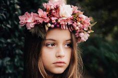 Couronne de fleur romantique Bohème Couronne par Whitepigeonatelier