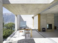 Inside/outside at New Concrete House, Lake Maggiore by Wespi de Meuron Architects
