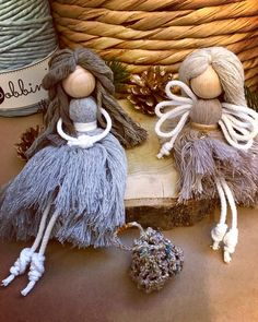 Macrame Plant Hanger Patterns, Macrame Patterns, Felt Christmas Ornaments, Angel Ornaments, Angel Crafts, Macrame Design, Macrame Projects, Macrame Knots, Diy Doll