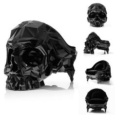 I'D WANT TO HAVE THIS CHAIR ON A ROTATING STAND FOR FULL EFFECT... Skull Armchair by Harow – Fubiz™