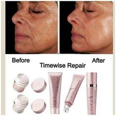 TimeWise Repair, si buscas resultados inmediatos esta es la linea para ti. Combate los signos visibles de la edad, ideal para pieles maduras y/o con lineas de expresion visibles. Solicita tu prueba
