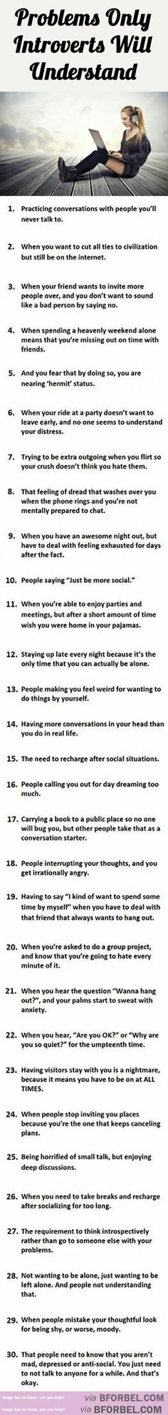#Introvert Problems...