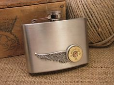 SureShot Jewelry - 4 oz. 12g Stainless Steel Shotshell Hip Flask  - Our shotgun hip flasks are just that ---HIP!