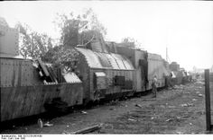 Captured Red Army armored train, Soviet Union June 1942.