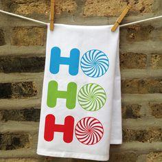Personalized Ho Ho Ho Kitchen Towel | Christmas Gift