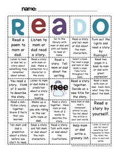a reading alternative to BINGO