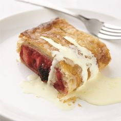 A yummy summer fruits strudel.