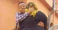 Omg! Check Out These Loved Up Photos of Nigerian Guy Flaunting the Gigantic Bum of His Girlfriend (Photos)