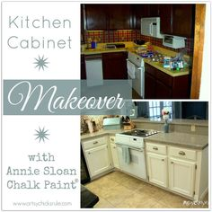 kitchen makeover reveal annie sloan chalk paint, home decor, kitchen design, kitchen island, painting, The before shot is days after moving in The after is 9 1 2 years later and several renovations later as you can see from the picture the wall is missing