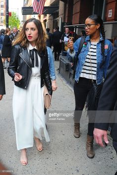 Zoe Lister-Jones and Joy Bryant seen at the jury welcome lunch at Tribeca Grill Loft on April 20, 2017 in New York, New York.