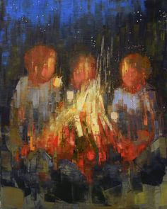 Rebecca Kinkead - Marshmallow ( Twilight ) Texture Painting, Painting & Drawing, Child Art, Painting People, Water Colors, Whistler, Paint By Number, Fine Art Gallery, Figurative Art