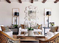 Blanco y leopardo