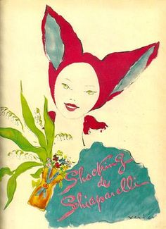 Shocking by Schiaparelli ~ - ad for Elsa Schiaparelli's lovely perfume Perfume Ad, Vintage Perfume, Perfume Bottles, Alberto Giacometti, Elsa Schiaparelli, Salvador Dali, Vintage Advertisements, Vintage Ads, Vintage Magazines