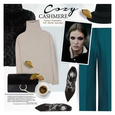 """""""Cozy Cashmere Sweaters"""" by anna-anica ❤ liked on Polyvore featuring Maison Margiela, Nicholas Kirkwood, Lilly Pulitzer, Maison Michel, Jardin des Orangers, Chloé and Zone"""