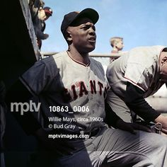 October 4, 2014: At 18 innings, the longest #playoff game in Major League Baseball #history was played last night between the #SanFranciscoGiants and #WashingtonNationals.  #BudGray captured the #Giants #legend #WillieMays at a game in the 1960s.  #AtBat #MLB #baseball #postseason #playoffs #mptvimages