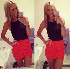I have this skirt in gray, would love a top like this one to go with it