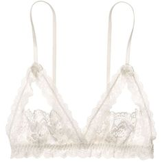 Hanky Panky Bralette - Princess Lace Split Cup #9S7211 (1.174.795 VND) ❤ liked on Polyvore featuring intimates, bras, underwear, lingerie, tops, ivory, hanky panky bra, lingerie bras, lace lingerie and lacy lingerie