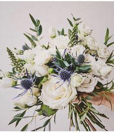 Planning A Fantastic Flower Wedding Bouquet – Bridezilla Flowers Bridal Flowers, Flower Bouquet Wedding, Floral Wedding, Wedding Colors, Bouquet Flowers, Blue Bouquet, Wedding Flower Arrangements, Floral Arrangements, Flower Decorations