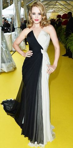 Here is what Crystal was wearing the night she met Brian at the Fireman's Ball.
