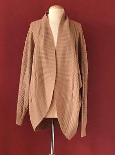 CHARTER CLUB Black Argyle 2 Ply 100% Cashmere Cardigan Sweater Size M