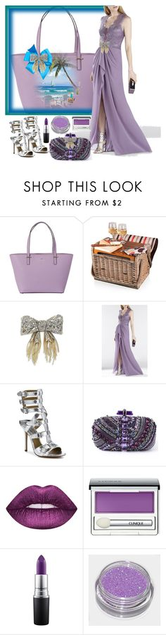 """""""Lavender: Simply Devine"""" by ester-ludwig ❤ liked on Polyvore featuring Kate Spade, Picnic Time, Alexis Bittar, BCBGMAXAZRIA, Michael Kors, Clinique and MAC Cosmetics"""