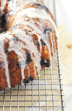 Checkout this recipe for Banana Blueberry Chia Seed Bundt Cake with Coffee Glaze I found on BobsRedMill.com