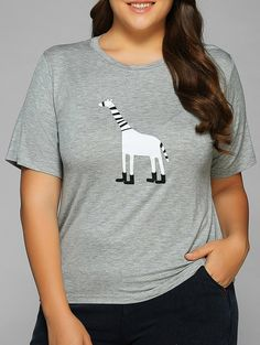 Cartoon Applique Short Sleeves T-Shirt #shoes, #jewelry, #women, #men, #hats