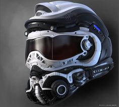 Awesome Helmet Concept by Ryan Love - Wish I could buy that one.