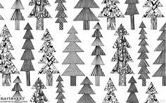 Marimekko Kuusikossa fabric, from Finland, half yard, black and white Christmas Desktop Wallpaper, Pc Desktop Wallpaper, Desktop Backgrounds, Marimekko Wallpaper, Christmas Graphics, Mark Making, Christmas Design, Textile Patterns, Tile Design