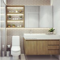 The sleek, angular lines of this WC gives it a striking look that will enhance any modern bathroom. Oak Bathroom, House Bathroom, Bathroom Interior Design, Trendy Bathroom, Ideal Bathrooms, Modern Bathroom, Small Remodel, Bathroom Design Small, Bathroom Decor