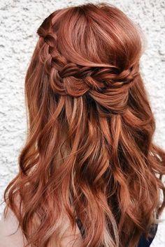 Redhead Hairstyles, Summer Hairstyles, Summer Braids, Pigtail Braids, Goddess Braids, Rose Gold Hair, Braided Ponytail, Different Hairstyles, French Braid