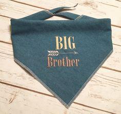 Big Brother Dog Bandana.  Chambray denim neckwear by CollarRap