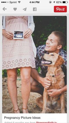 Trendy Baby Announcement With Dog Pregnancy Photo Ideas Ideas Cute Pregnancy Announcement, Pregnancy Announcement Photos, Pregnancy Photos, Pregnancy Belly, Pregnancy Info, Pregnancy Pillow, Early Pregnancy, Dog Pregnancy Announcements, Pregnancy Cartoon